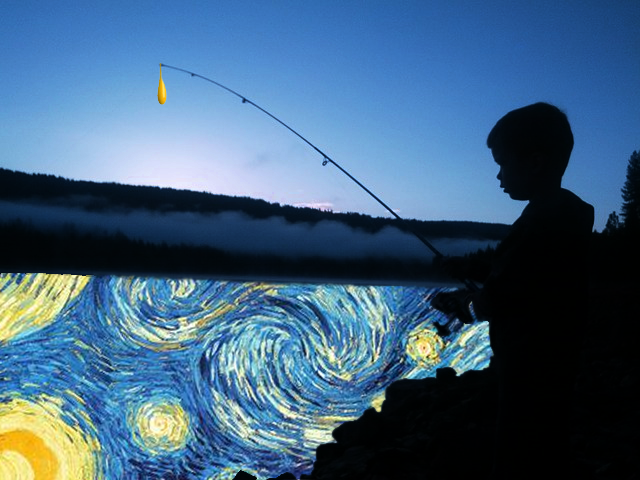 Play into Art- Goin' Fishing Photo