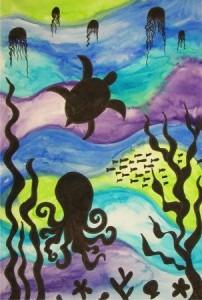 underwater sillhouette