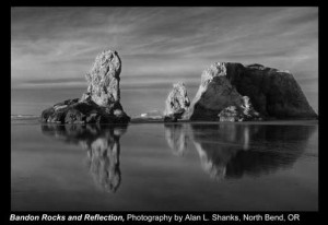 Shanks,-Alan-L._Bandon-Rocks-and-Reflection_North-Bend,-OR.